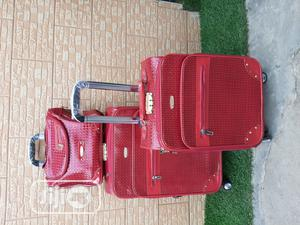 Unisex Red Color Trolley Travel Bags (3 Sets)   Bags for sale in Lagos State, Ikeja