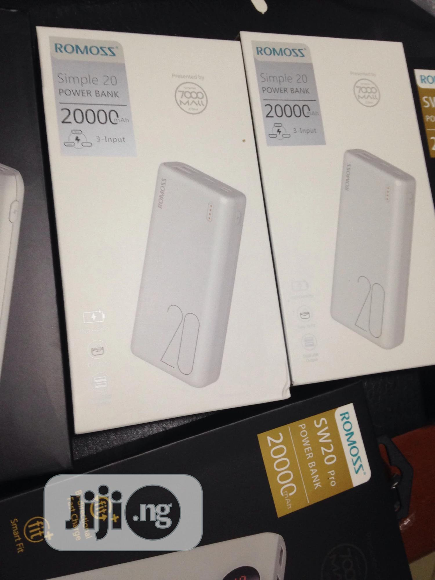 20000mah Romoss Power Bank | Accessories for Mobile Phones & Tablets for sale in Ibadan, Oyo State, Nigeria