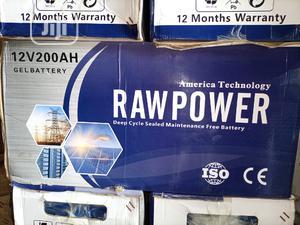 200ah 12v Raw Power Solar Battery | Solar Energy for sale in Lagos State, Ojo