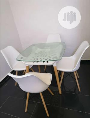 A Set of Dinning/Restaurant Glass Top Table With 4 Chairs | Furniture for sale in Lagos State, Ojo