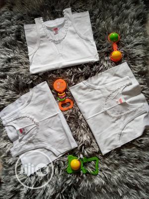 Girls White Singlet   Children's Clothing for sale in Lagos State, Amuwo-Odofin