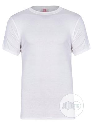 Kanin Plain White Round Neck T-shirt | Clothing for sale in Lagos State, Surulere