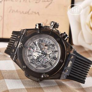 Hublot Chronograph Transparent Rubber Strap Watch | Watches for sale in Lagos State, Lagos Island (Eko)