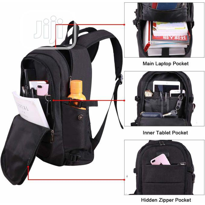 Anti Theft Waterproof Laptop Backpack With Usb Charging Port