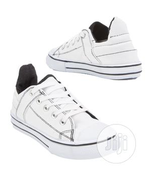 Children Lace Up Kids Canvas Shoes White | Children's Shoes for sale in Lagos State, Oshodi
