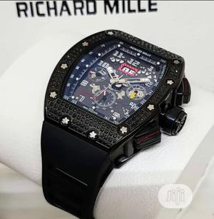 High Quality Richard Mille Rubber Strap Watch | Watches for sale in Lagos State, Magodo