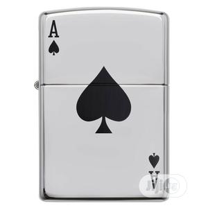 Windproof High Polished Chrome Lucky Ace Lighter 24011 | Tobacco Accessories for sale in Rivers State, Port-Harcourt