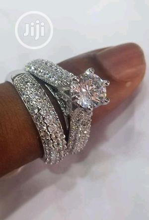Diamond Silver Engagement/Wedding Ring | Wedding Wear & Accessories for sale in Lagos State, Surulere