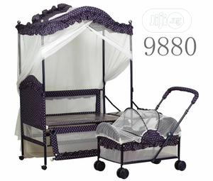 Baby 2in1 Bed With Stroller   Children's Furniture for sale in Lagos State, Lagos Island (Eko)