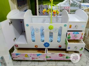 Baby Cot With Multiple Drawers And Music Toy Rack | Children's Furniture for sale in Lagos State, Ajah