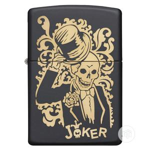 Windproof Black Lighter With Skeleton Joker & Top Hat 29632 | Tobacco Accessories for sale in Rivers State, Port-Harcourt
