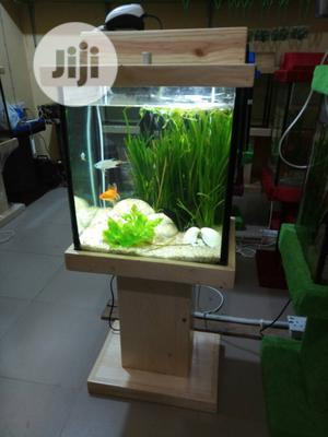 Standing Wooden Glass Aquarium For Sale | Fish for sale in Lagos State, Ikeja