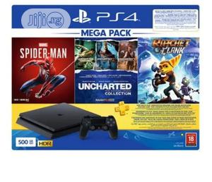Playstation 4 500GB Mega Pack Bundle + 3 Games | Video Game Consoles for sale in Lagos State, Ikeja
