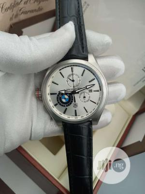TAG Heuer (BMW) Chronograph Silver Leather Strap Watch | Watches for sale in Lagos State, Lagos Island (Eko)