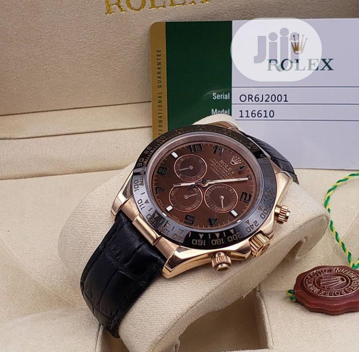 High Quality Rolex Leather Watch