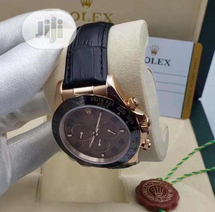 High Quality Rolex Leather Watch   Watches for sale in Magodo, Lagos State, Nigeria
