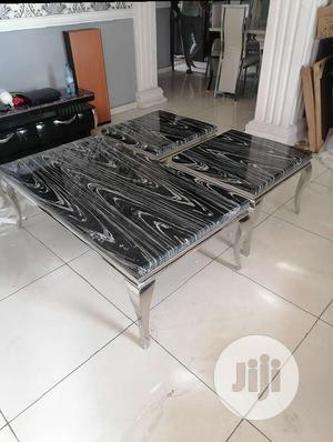 Unique Marble Center Table With 2 Side Stools | Furniture for sale in Lagos State, Ajah