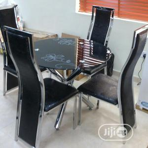 Round Glass Dinning Table With 4 Chairs | Furniture for sale in Lagos State, Ajah