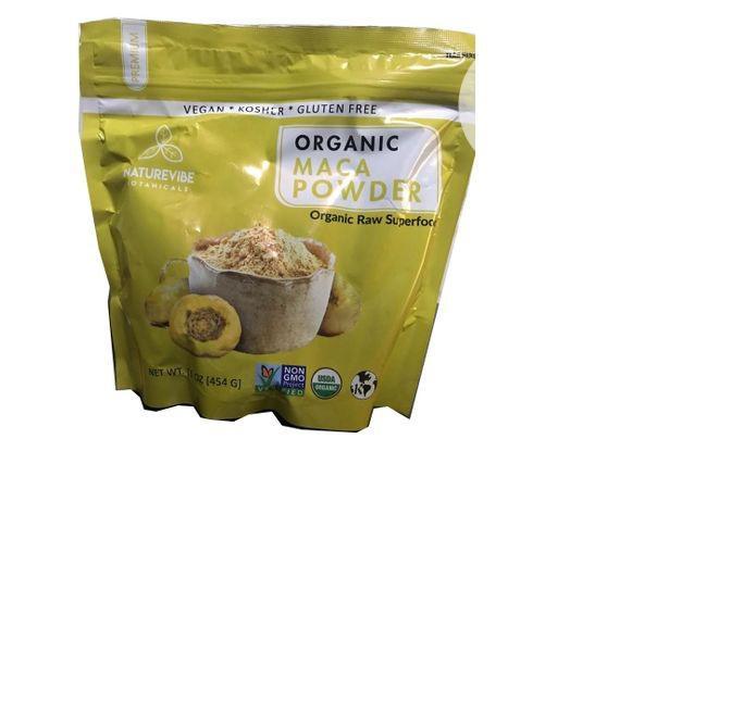 Naturevibe Botanicals USDA Organic Maca Powder 16 Oz 454g