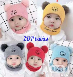 Baby Cap With Neck Band | Children's Clothing for sale in Lagos State, Agege