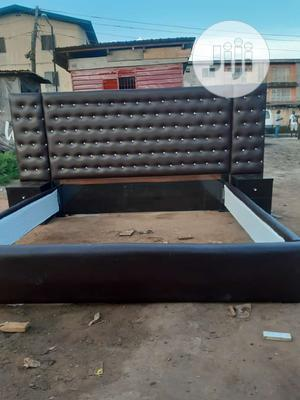7by6 Padded Bed Frame With Double Side Drawer   Furniture for sale in Lagos State, Ojo