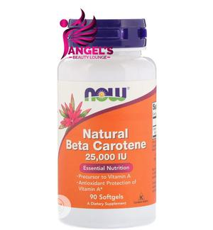 Now Foods Natural Beta Carotene IU 90 Softgel | Vitamins & Supplements for sale in Lagos State, Ojo