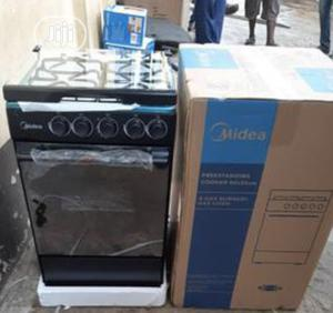 New Midea 50 By55 4burners Gas With Oven Blue Flame   Kitchen Appliances for sale in Lagos State, Ojo