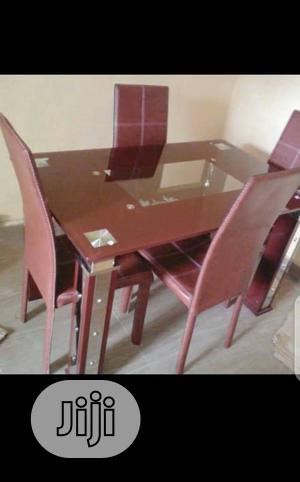 Super Quality Set of Glass Dinning Table With 4 Chairs | Furniture for sale in Lagos State, Ojo