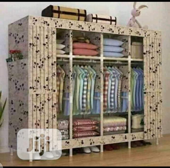 Movable Wooden Wardrobe