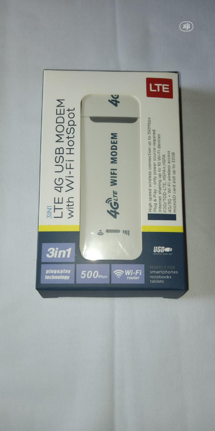 Archive: LTE 4G USB Modem With Wifi Hotspot