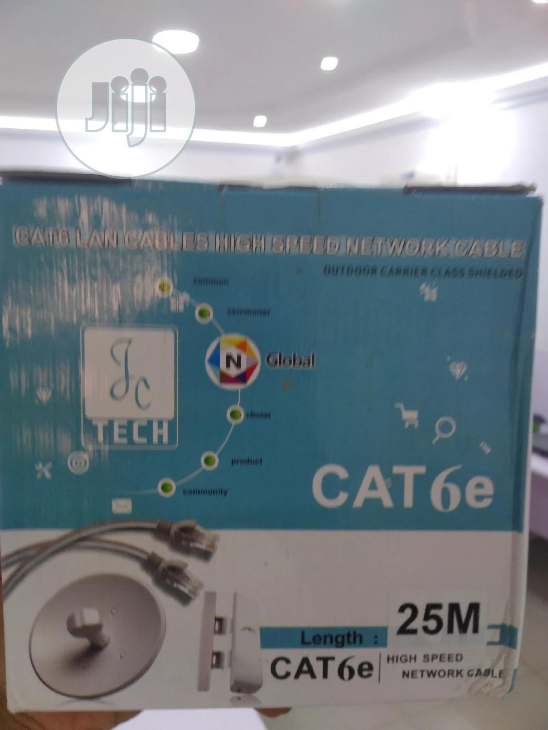 Genuine 25meters RJ45 Cat6 UTP PVC Patch Cord Ethernet Cable | Accessories & Supplies for Electronics for sale in Ikeja, Lagos State, Nigeria