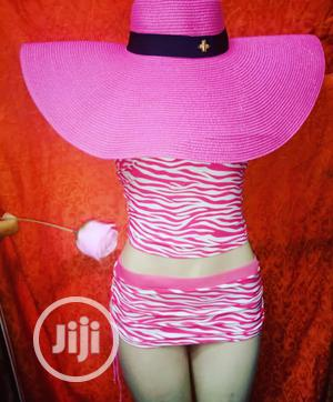Wide Pink Beach Hat/Sun Hat | Clothing Accessories for sale in Lagos State, Ikeja