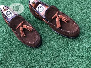 Coffee Brown Suede Wity Tassel Loafers | Shoes for sale in Lagos State, Mushin