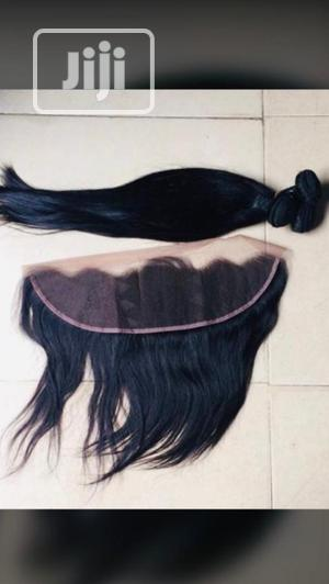 Brazilian Straight Human Hair With Frontal 18 Inches   Hair Beauty for sale in Lagos State, Victoria Island