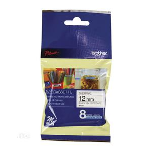 Brother 12MM MK231 Black On White Non-laminated Tape   Stationery for sale in Lagos State, Yaba