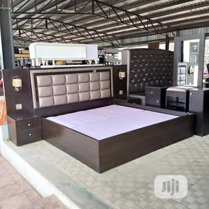 Bed Frame Complete Set 6 By 6 With HDF   Furniture for sale in Lagos State, Ikeja