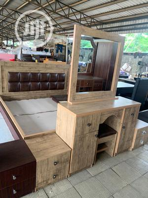 Bed Frame Complete Set With HDF 6 By 6   Furniture for sale in Lagos State, Ikeja