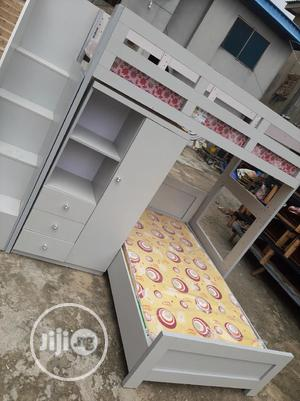 Double Bunk Bed With Wardrobe   Furniture for sale in Lagos State, Ojo