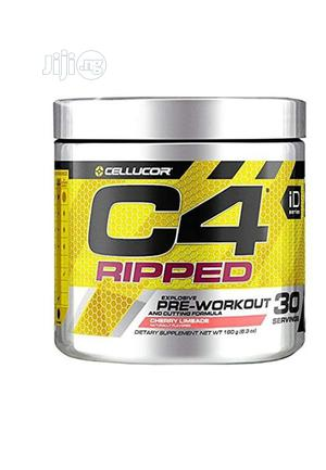 Cellucor C4 Ripped Pre Workout Powder Cherry 30 Servings   Vitamins & Supplements for sale in Lagos State, Lekki