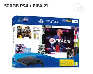 Playstation 4 500GB SLIM + FIFA 21 Bundle | Video Game Consoles for sale in Lagos State, Ikeja