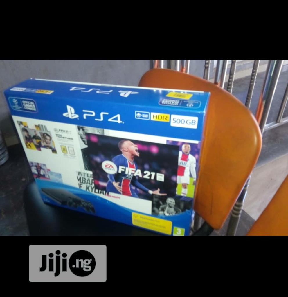 Playstation 4 500GB SLIM + FIFA 21 Bundle   Video Game Consoles for sale in Ikeja, Lagos State, Nigeria