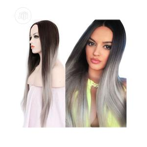 Long Hair Ombre Grey Color Straight Wig   Hair Beauty for sale in Lagos State, Ikoyi