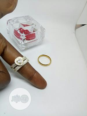 Vee Zircon Heart Couple's 3 Set of Wedding Ring | Wedding Wear & Accessories for sale in Lagos State, Ojodu