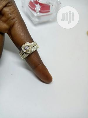 Vee Zircon Heart Proposal/Engagement Gold Ring | Wedding Wear & Accessories for sale in Lagos State, Ojodu