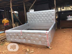 6 by 6 Modern Design Bed Frame | Furniture for sale in Lagos State, Ilupeju