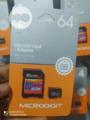 Microdigit 64GB GB Memory Card With Adapter   Accessories for Mobile Phones & Tablets for sale in Lagos State, Ikeja