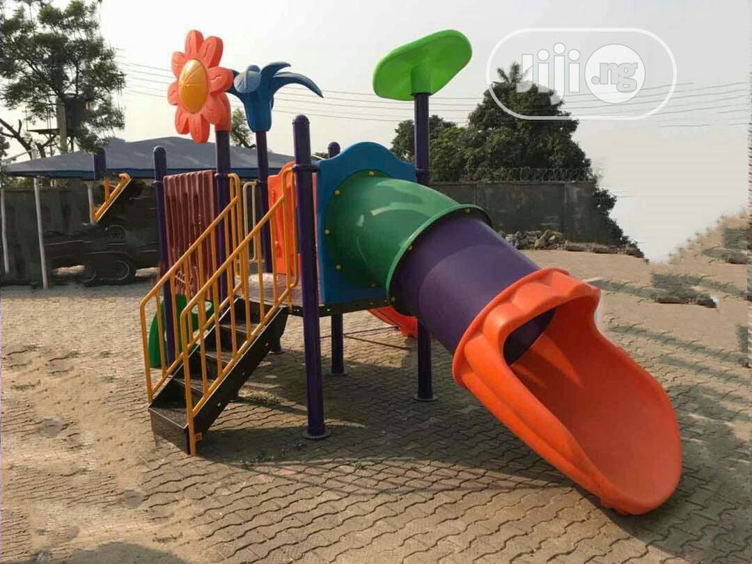 Big Outdoor Playhouse Tunnel With Slides - Complete Set up