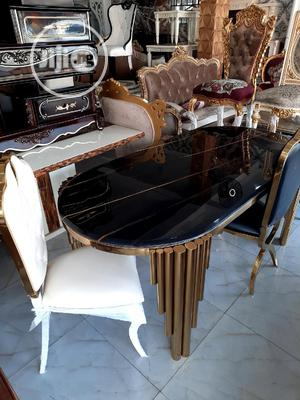 Quality Royal 6seater Gold Dining Table Set | Furniture for sale in Lagos State, Lekki