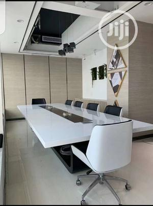 White Conference Table for 10people/3meters   Furniture for sale in Lagos State, Victoria Island