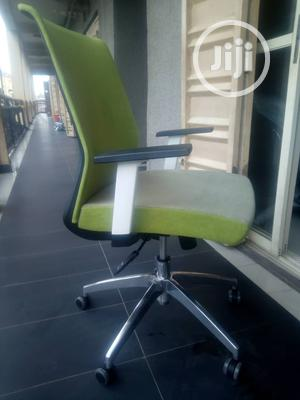 Lemon Fabric Swivel Office Chair   Furniture for sale in Lagos State, Victoria Island